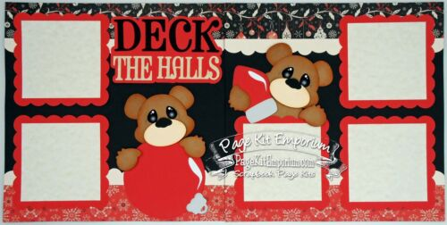 Scrapbook Layout Page Kit Christmas Deck The Halls Paper Piecing PKEmporium 71