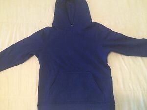 Youth-Girl-Boy-Pull-Over-Hoodie-Sweat-Shirt-Size-Small-Dark-Blue-W-Pockets