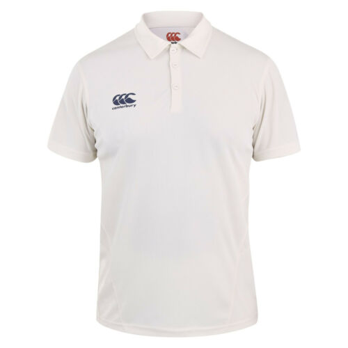 5 6 or 13 14 Years Kids CANTERBURY Classic SS Cricket Shirt Whites Polo Boys 21