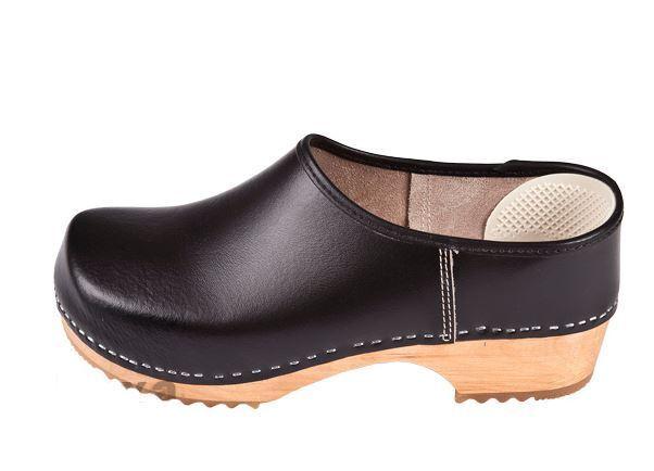 Wooden clogs clogs clogs  Black color close   Swedish style ZF1     US shoes Size (Men's) 55403e