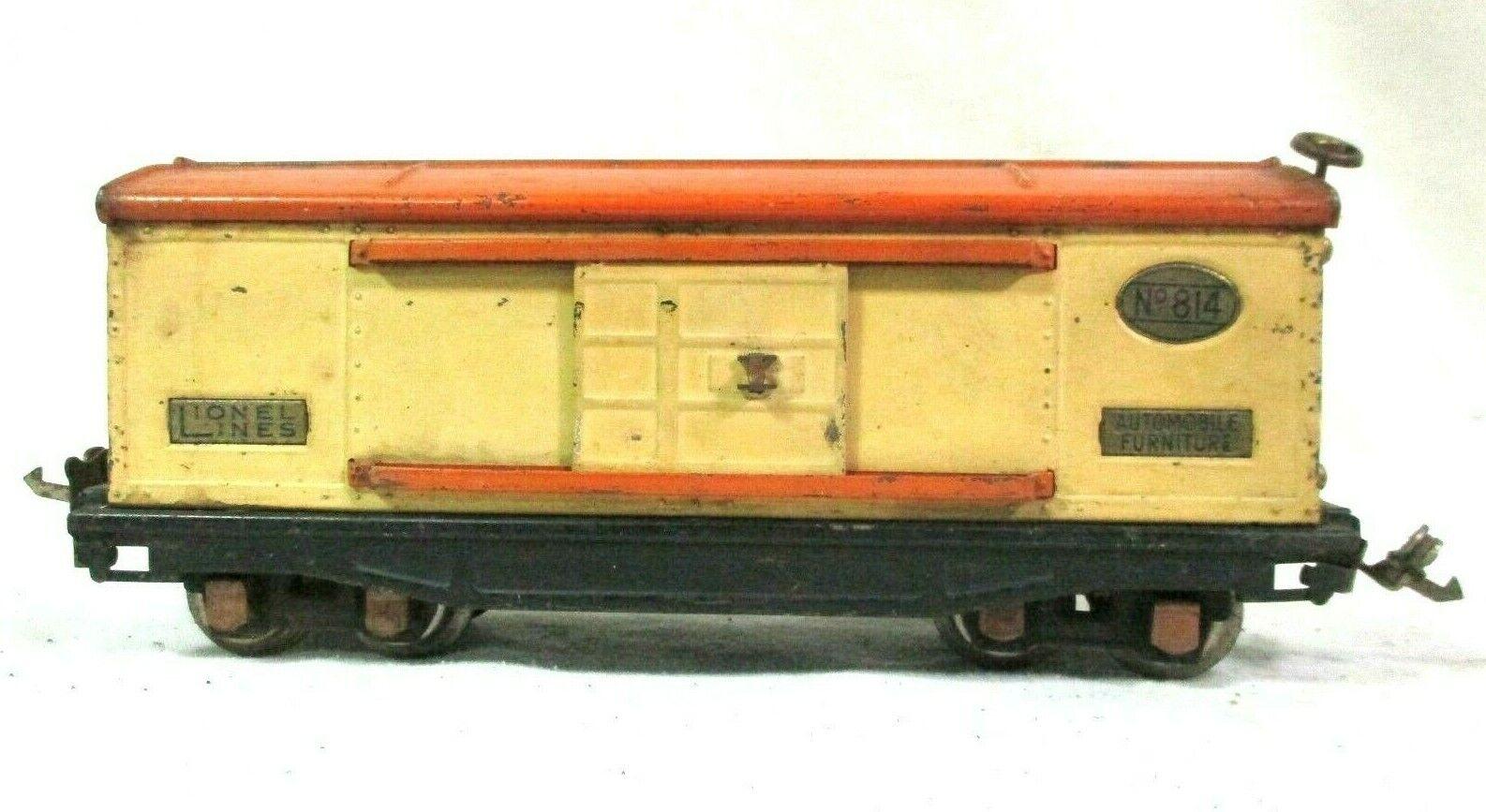 Lionel Furniture Boxcar in Cream orange Pre War Vintage Model Railway B54