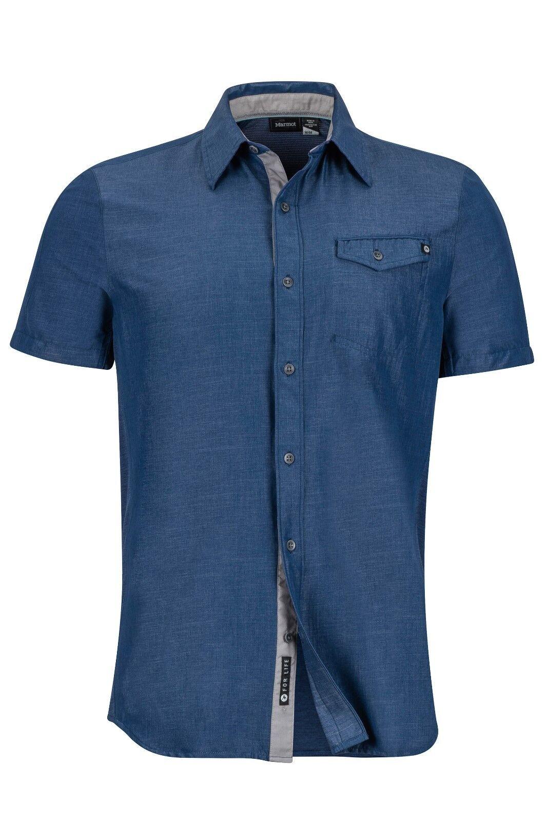 Marmot Contra Shirt Short Sleeve Funktionshemd für Herren vintage navy