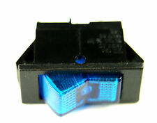 Swann Industries Illuminated Rocker Switch Spst 125v 15a Lighted Blue