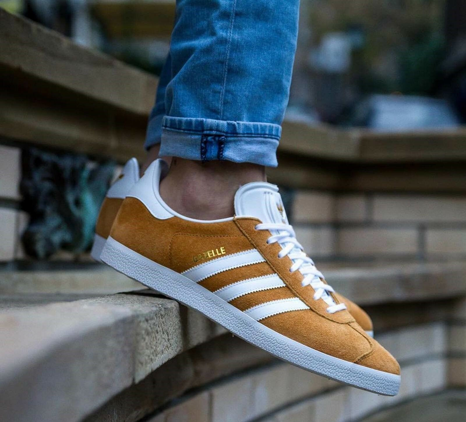 BNWB & Genuine Adidas Originals ® Gazelle Mesa Suede Trainers UK Größe 6