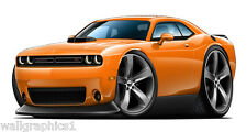 Dodge Challenger Scat Pack With Shaker Hood Wall Sticker Decal Cling Graphics