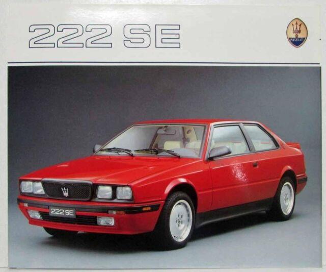 1991 Maserati 222 SE Sales Folder - Multi-Language Text   eBay