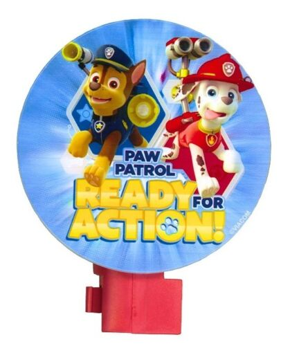 NEW Children's PAW PATROL Chase & Marshall Ready For Action Night Light 120V