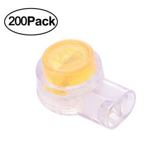 200Pcs-Pack-Waterproof-Orange-Clear-Button-Cable-UY-Butt-Splice-Connectors-K1