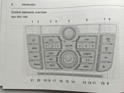 Automobilia Vauxhall ASTRA J Hatch & Tourer CD 300 400 600 NAVI ...