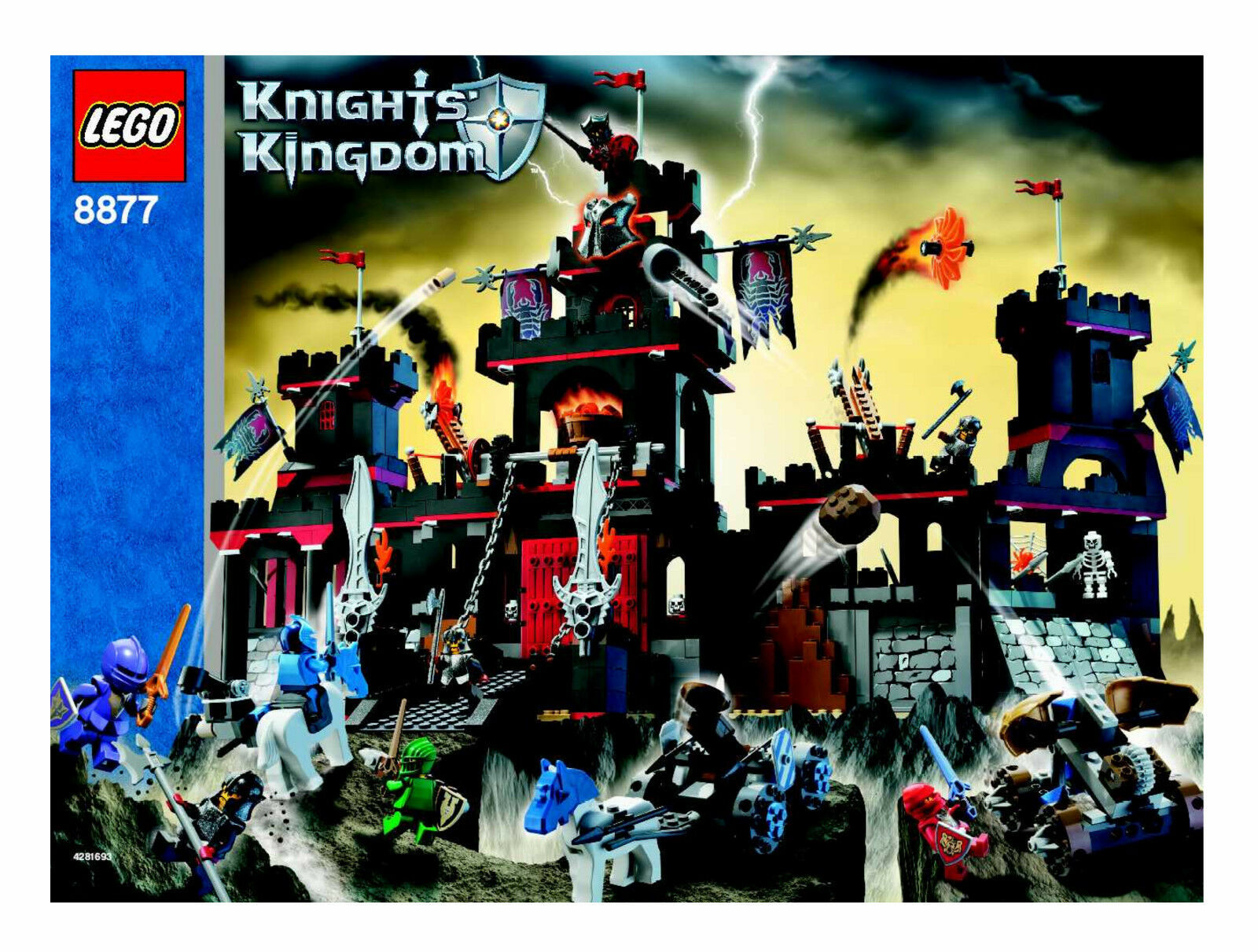 Lego Knights Kingdom 8877 8877 8877 Vladek's Fortress New Sealed 280604