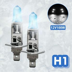H1-100W-Di-Lampadine-Per-Fari-Luce-Bianca-Lampadine-Effetto-Xeno-12V-Per-Auto
