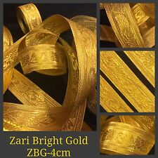 9 Yards Zari Gold Tape Ribbon Sari Blouse Border Crafts Lace Curtain Trim SewOn