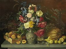 PAINTING STILL LIFE KHRUTSKY FLOWERS FRUITS ART PRINT POSTER PICTURE LF756