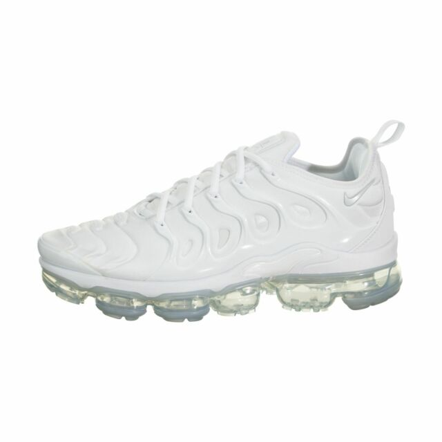 best sneakers 9cfee ece93 Mens Nike Air Vapormax Plus Triple White Pure Platinum 924453-100 US 9