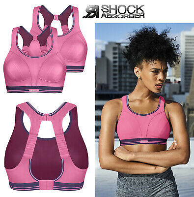 Pack of 2  Size 32D  Shock Absorber Ultimate Run Sports Bra Pink Purple