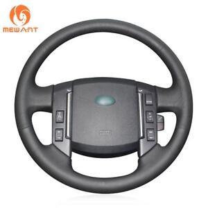 Black Genuine Leather Steering Wheel Cover for Land Rover Freelander 2 2007-2012