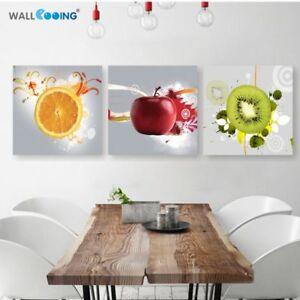 Fruits Orange Grape Green Apple Wall Art Canvas Painting ...