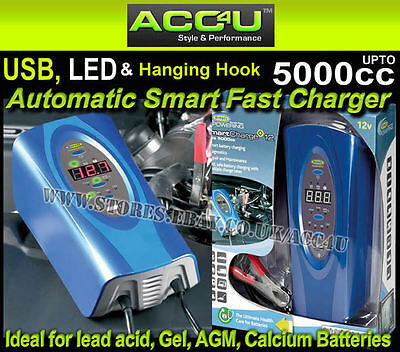 Ring RSC512 12v 12 Amp Up To 5000cc Car Van 4x4 Boat Smart Fast Battery Charger