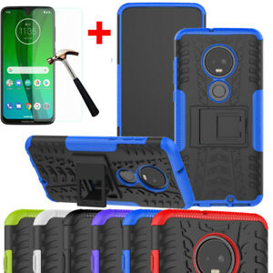 For-Motorola-Moto-G7-Power-Play-Plus-Z4-Play-Shockproof-Rugged-Ring-Stand-Case