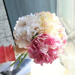 Kuenstlich-Hortensie-Seide-Blumengesteck-Party-ball-flower-Blumen-Hochzeit-Dekor