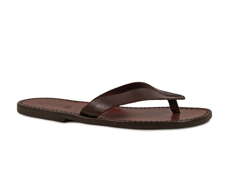 Handmade genuine leather thong sandals for men leather sole Made in