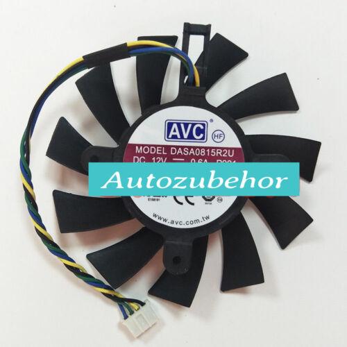 for 75mm VGA Fan EVGA Nvidia GTS 450 GTX 460 550 560 Video Card AVC DASA0815R2U