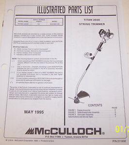 mcculloch trimmer service manual