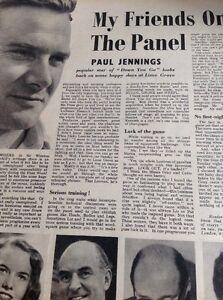 Ephemera-1953-Article-Paul-Jennings-Down-You-Go-Tv-Star-ca8