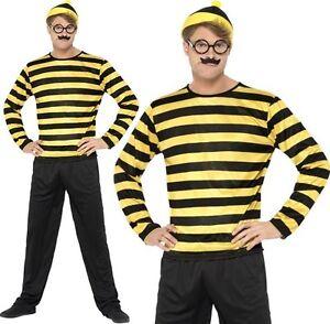 uomo-con-licenza-ufficiale-Wheres-Wally-odlaw-Costume-Where-039-s-Wally-Da-Smiffys