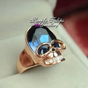 Swarovski Skull Ring