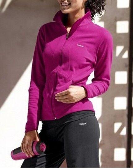 Reebok Fleecejacke Gr.S NEU Pink Damen Trainingsjacke Fitness Joggen Langarm