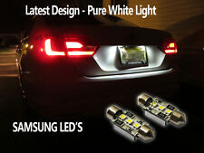 AUDI R8 36MM NUMBER PLATE LED PURE WHITE BULBS C5W TTRS SPIDER SLINE 4.2 QUATTRO