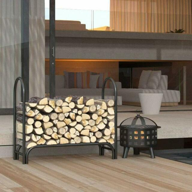 Fireplace Log Holder Tool Set Wood Rack
