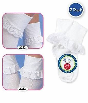 Jefferies Pastel Daisy Eyelet 3 Pack Socks  Newborn or Infant
