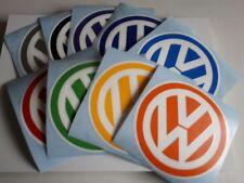 vw logo badge van beetle transporter campervan car sticker 110mm colour/white