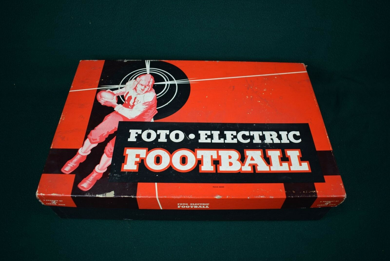 Vintage 1946 Cadaco-Ellis Foto-Electic Fútbol-Excelente Estado-Funciona