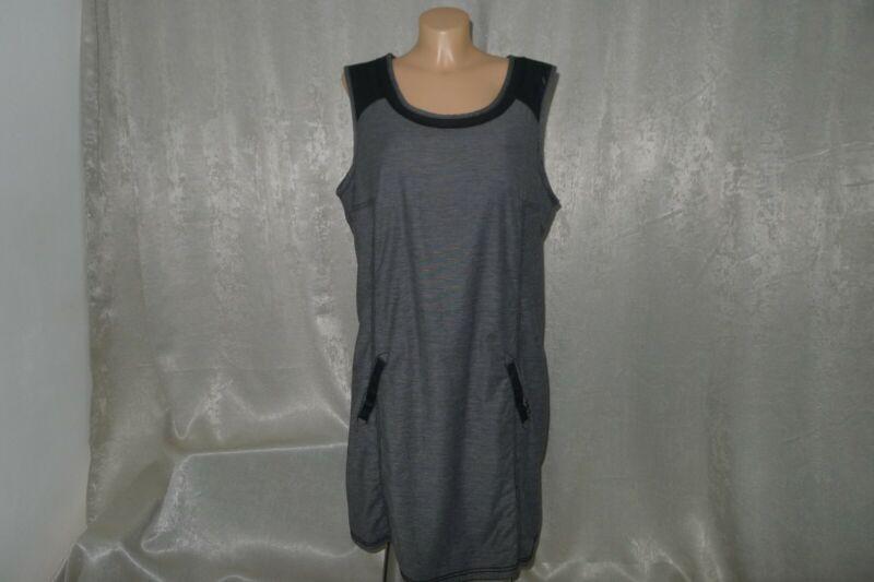 Cecil Kleid Xl 44 42 Grau Schwarz 98% Baumwolle Shirtkleid Klassisch Sportlich