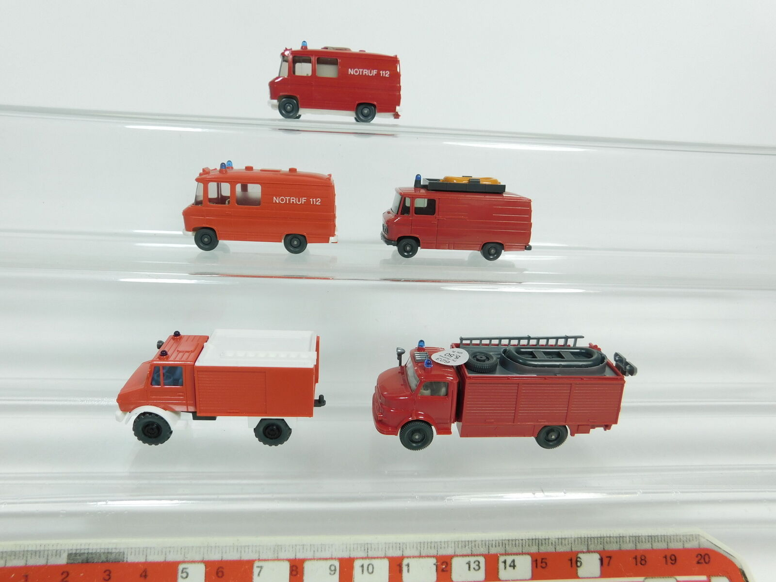 BD352-0,5x Wiking H0 1 87 MB-Modell Feuerwehr FW    Unimog+608+623 etc, NEUW 7b6429