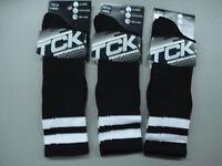 Men's Tck Performance All Sport Ball Socks Size Large 3 Pair Black/white 5k