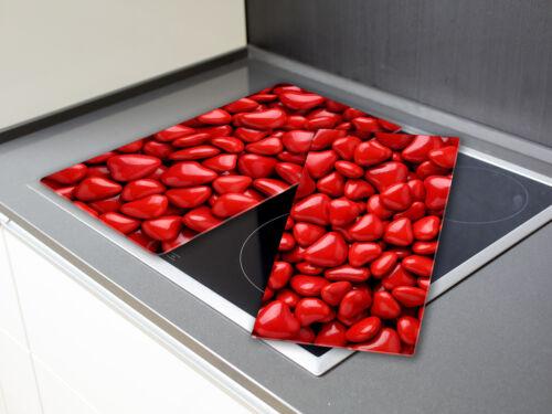 Herz Candys Rot HA544141855 Schneidebrett aus Glas Herdabdeckplatten