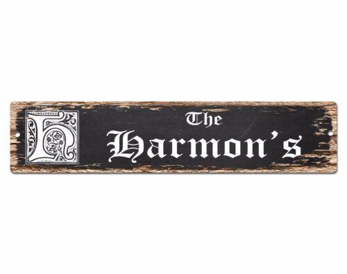 SPFN0399 The HARMON/'S Family Name Street Chic Sign Home Decor Gift Ideas