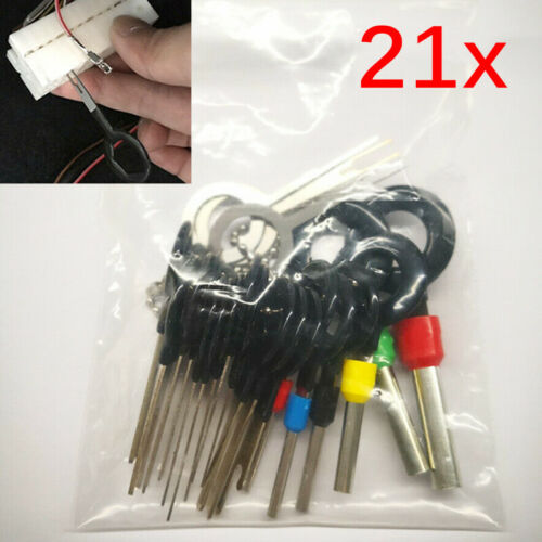 21pcs Auto Car Wire Terminal Removal Tools Cable Wiring Connector Pin Puller NEW