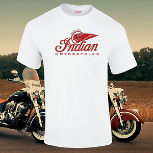 Indian-Motocycles-Vintage-Retro-Enthousiaste-Delave-Delave-T-Shirt-S-5XL