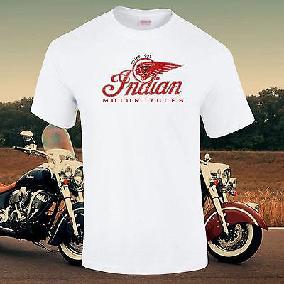 Indian Motorräder Vintage Retro Enthusiast Verwaschen Distressed T-Shirt S-5XL