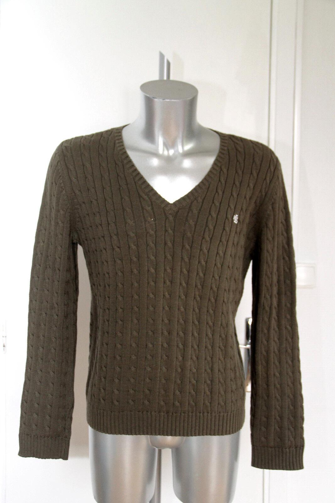 Bonito suéter de hombre algodón caqui green label RALPH LAUREN size XL