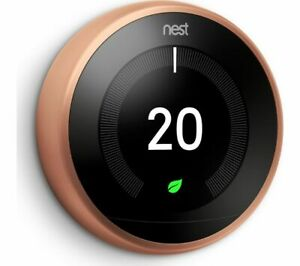 GOOGLE Nest Learning Thermostat - 3rd Generation Copper - Currys
