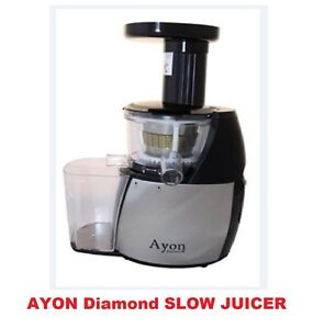 Brands Of Slow Juicer : Brand New Ayon Diamond Cold Press Slow Juicer Processor ...