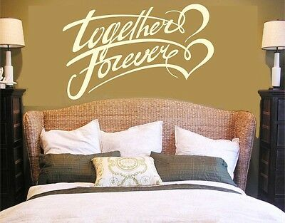 Wall Decal TOGETHER FOREVER,romantic bedroom,Vinyl Wall Art,wall quote