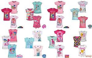 Filles-Enfants-PJ-Masques-Trolls-Masha-Minnie-Poney-Tinkerbell-T-shirt-homme-age-2-12yrs