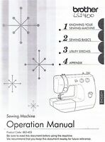 Brother Ls2400 Sewing Machine Users Guide Owners Instruction Manual Book